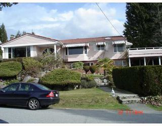 Photo 1: 1245 RENTON Road in West_Vancouver: British Properties House for sale (West Vancouver)  : MLS®# V698192