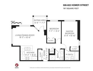 """Photo 19: 506 822 HOMER Street in Vancouver: Downtown VW Condo for sale in """"GALILEO ON ROBSON"""" (Vancouver West)  : MLS®# R2298676"""