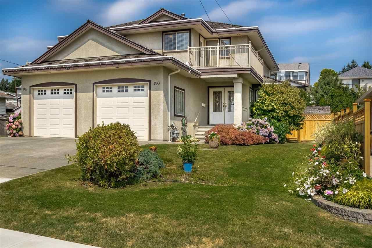Main Photo: 833 QUADLING Avenue in Coquitlam: Coquitlam West 1/2 Duplex for sale : MLS®# R2407327