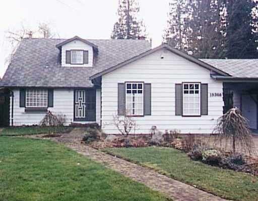 Main Photo: 19368 121ST AV in PITT MEADOWS: Central Meadows House for sale (Pitt Meadows)  : MLS®# V182426