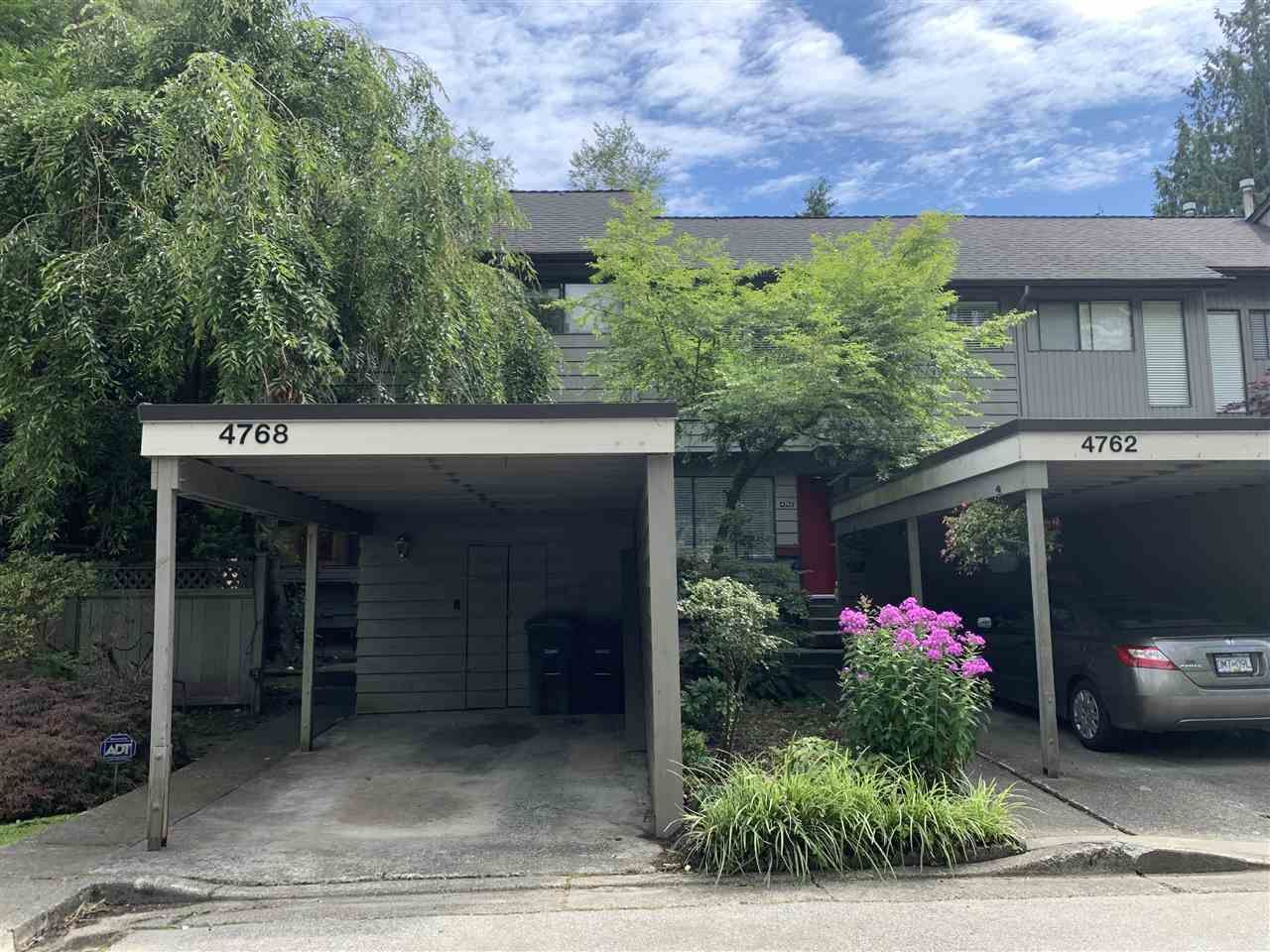"""Main Photo: 4768 CEDARGLEN Place in Burnaby: Greentree Village Townhouse for sale in """"GREENTREE VILLAGE"""" (Burnaby South)  : MLS®# R2388988"""
