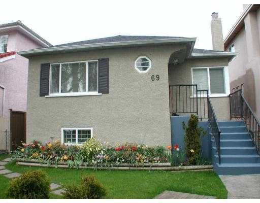 Main Photo: 69 E 46TH Avenue in Vancouver: Main House for sale (Vancouver East)  : MLS®# V781541