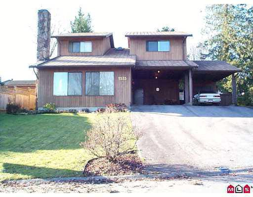 Photo 1: Photos: 9533 OBAN PLACE in : Queen Mary Park Surrey House for sale : MLS®# F2224097