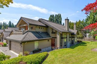 """Photo 1: 15 1550 LARKHALL Crescent in North Vancouver: Northlands Townhouse for sale in """"NAHANEE WOODS"""" : MLS®# R2594601"""