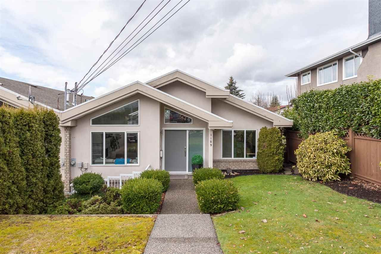 Main Photo: 1189 PHILLIPS AVENUE in Burnaby: Simon Fraser Univer. 1/2 Duplex for sale (Burnaby North)  : MLS®# R2146328