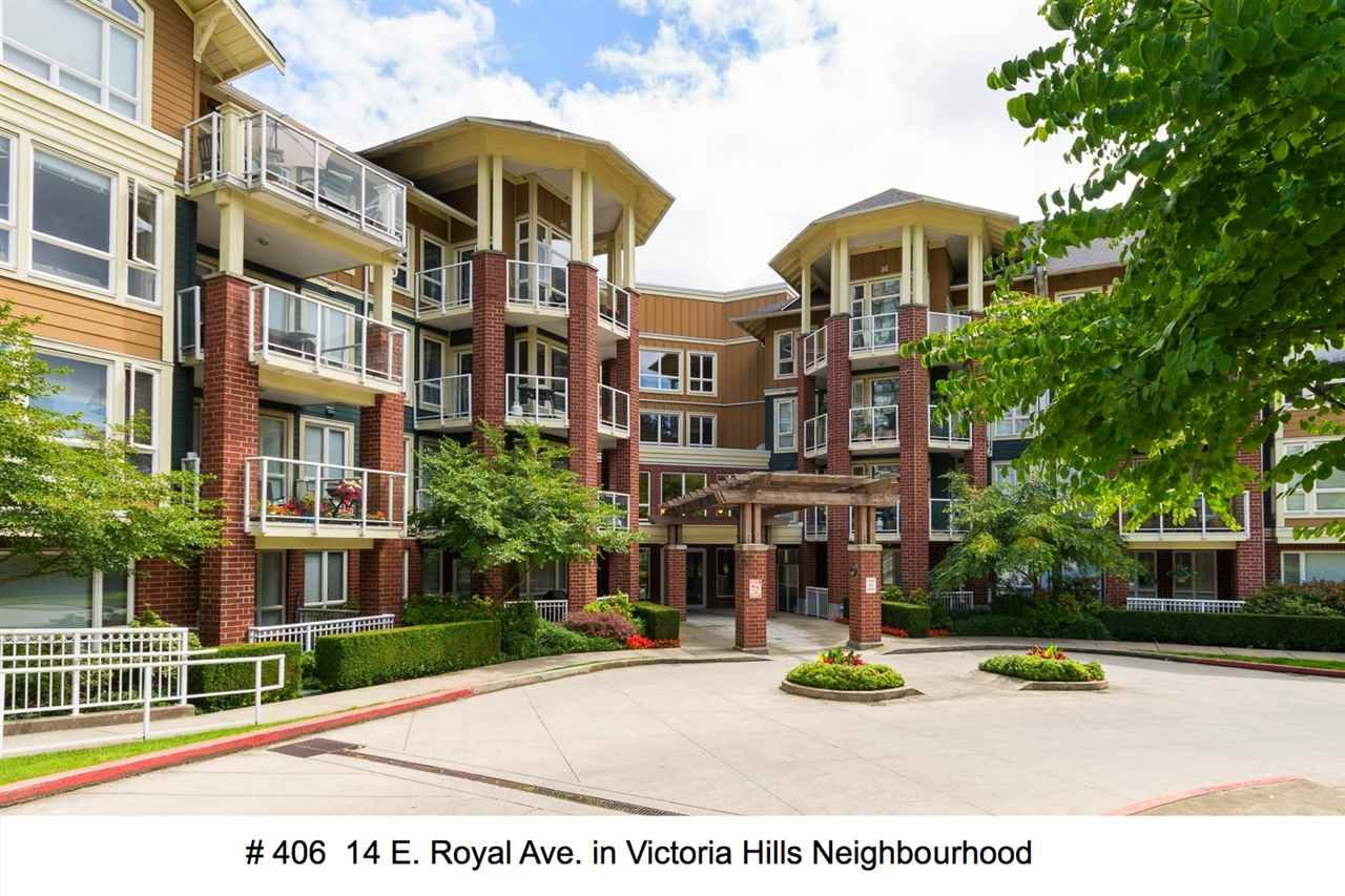 """Main Photo: 406 14 E ROYAL Avenue in New Westminster: Fraserview NW Condo for sale in """"Victoria Hill"""" : MLS®# R2092920"""