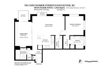 """Photo 16: 703 1055 HOMER Street in Vancouver: Yaletown Condo for sale in """"DOMUS"""" (Vancouver West)  : MLS®# R2625020"""