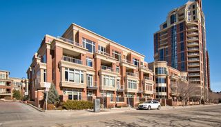 Main Photo: 106 660 Eau Claire Avenue SW in Calgary: Eau Claire Apartment for sale : MLS®# A1081795