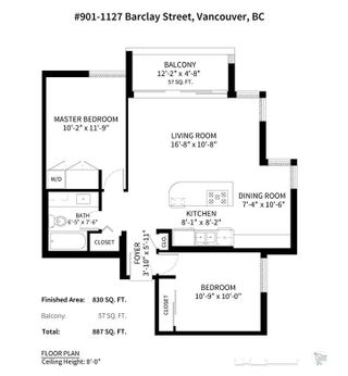 "Photo 19: 901 1127 BARCLAY Street in Vancouver: West End VW Condo for sale in ""Barclay Court"" (Vancouver West)  : MLS®# R2298326"