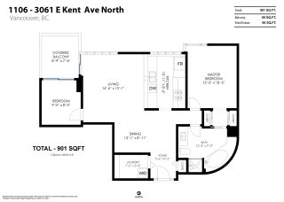 """Photo 27: 1106 3061 E KENT AVENUE NORTH in Vancouver: South Marine Condo for sale in """"The Phoenix"""" (Vancouver East)  : MLS®# R2561230"""