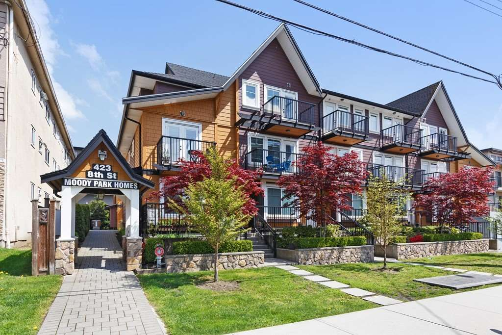 Main Photo: 102 423 EIGHTH STREET in New Westminster: Uptown NW Townhouse for sale : MLS®# R2263373