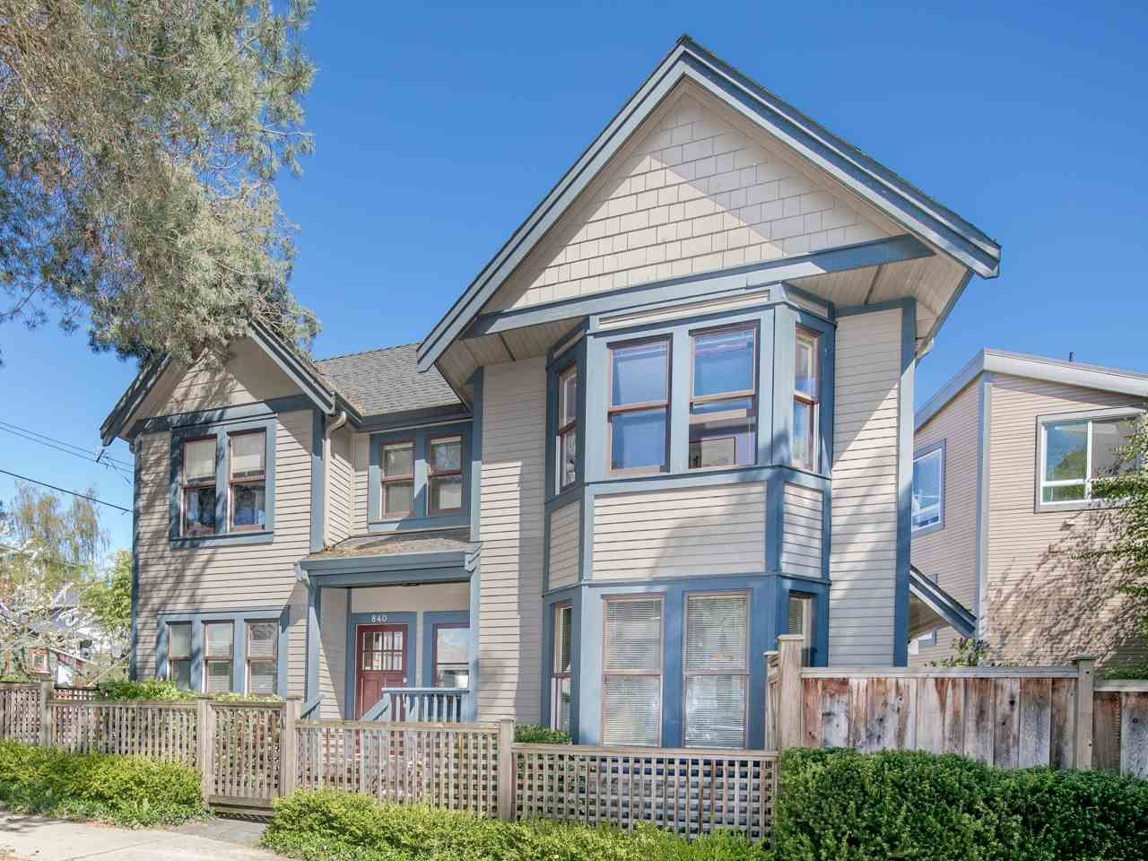Main Photo: 840 Dunlevy Street in Vancouver: Mount Pleasant VE House for sale (Vancouver East)  : MLS®# R2159141
