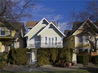 Photo 1: 1839 CREELMAN Avenue in Vancouver: Kitsilano 1/2 Duplex for sale (Vancouver West)  : MLS®# V1047236