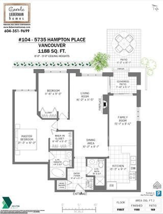 """Photo 22: 104 5735 HAMPTON Place in Vancouver: University VW Condo for sale in """"THE BRISTOL"""" (Vancouver West)  : MLS®# R2590076"""