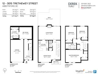 """Photo 36: 12 3015 TRETHEWEY Street in Abbotsford: Abbotsford West Townhouse for sale in """"Birch Grove Terrace"""" : MLS®# R2615766"""