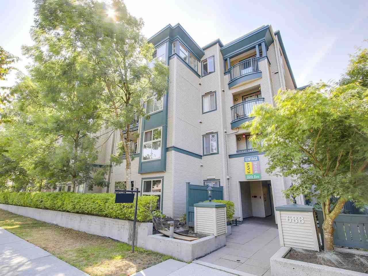 """Main Photo: 206 688 E 16TH Avenue in Vancouver: Fraser VE Condo for sale in """"VINTAGE EASTSIDE"""" (Vancouver East)  : MLS®# R2189577"""
