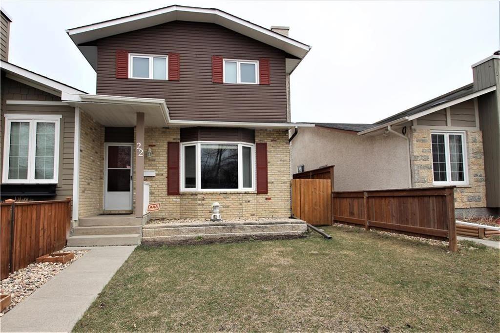 Main Photo: 22 John Forsyth Road in Winnipeg: River Park South Residential for sale (2F)  : MLS®# 202110613