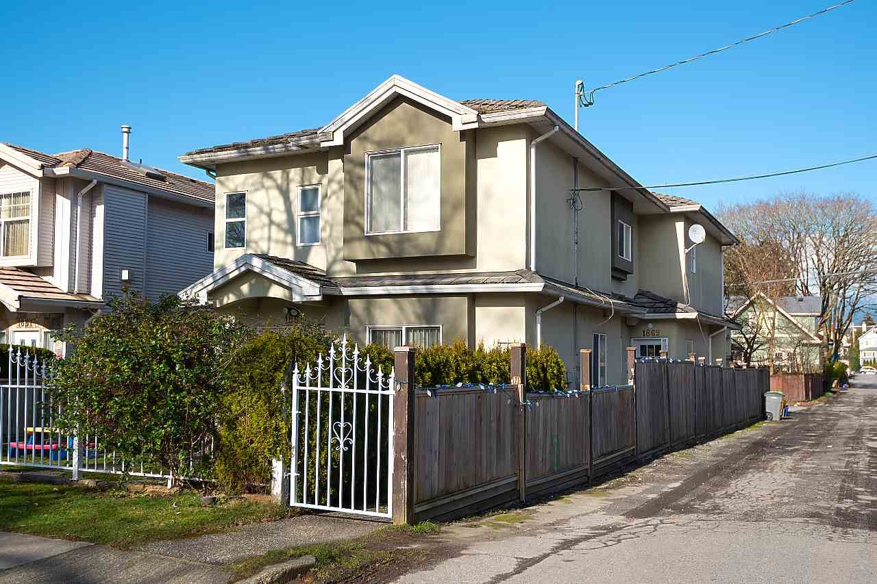Main Photo: 1869 E 14TH Avenue in Vancouver: Grandview Woodland 1/2 Duplex for sale (Vancouver East)  : MLS®# R2538025