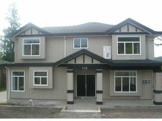 Photo 1: 732 ROBINSON Street in Coquitlam: Coquitlam West 1/2 Duplex for sale : MLS®# V826752