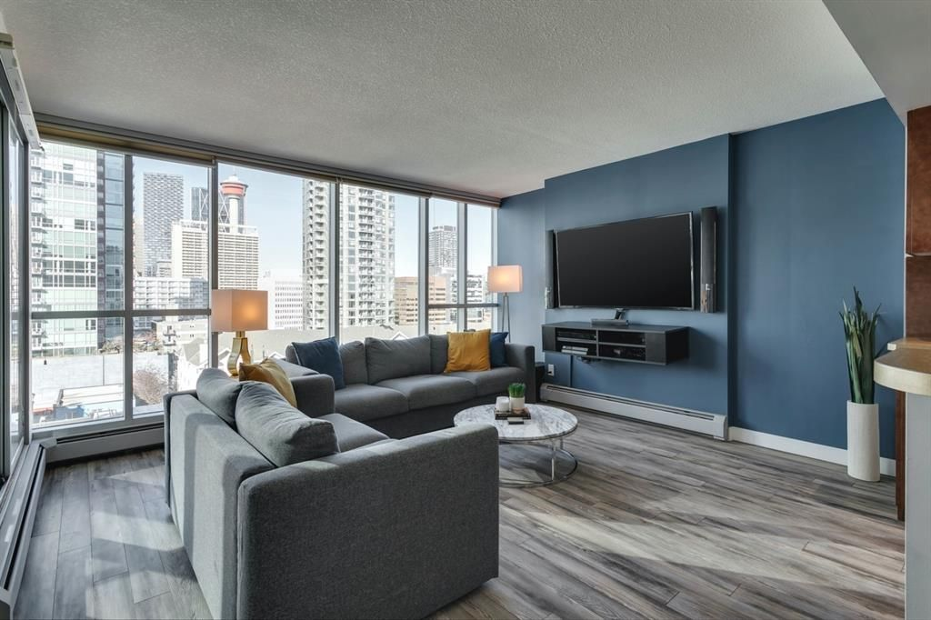 Large Living Room with City Views