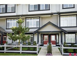 """Photo 1: 42 18839 69TH Avenue in Surrey: Clayton Townhouse for sale in """"Starpoint II"""" (Cloverdale)  : MLS®# F2907067"""
