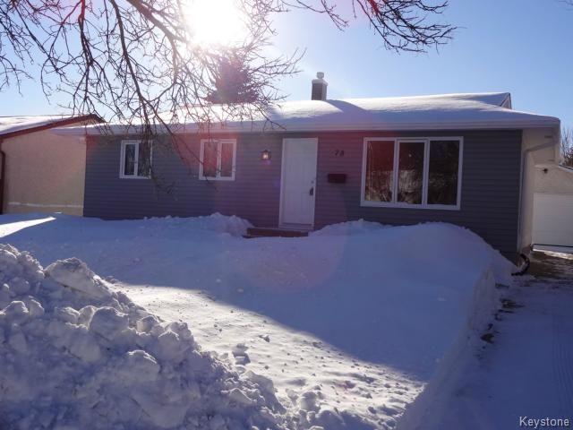 Main Photo: 78 Continental Avenue in Winnipeg: Single Family Detached for sale (North Kildonan)  : MLS®# 14000546