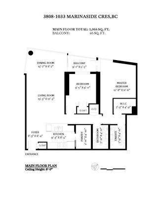 """Photo 30: 3808 1033 MARINASIDE Crescent in Vancouver: Yaletown Condo for sale in """"Quaywest"""" (Vancouver West)  : MLS®# R2610148"""