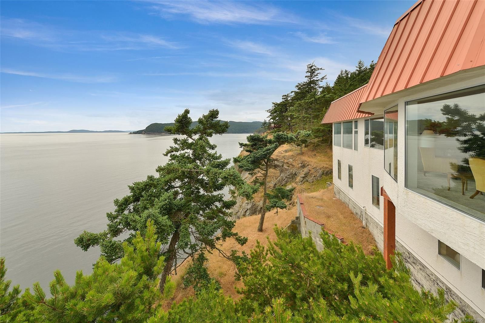 Commanding 2 level home perched on the southern bluffs of Saturna Island