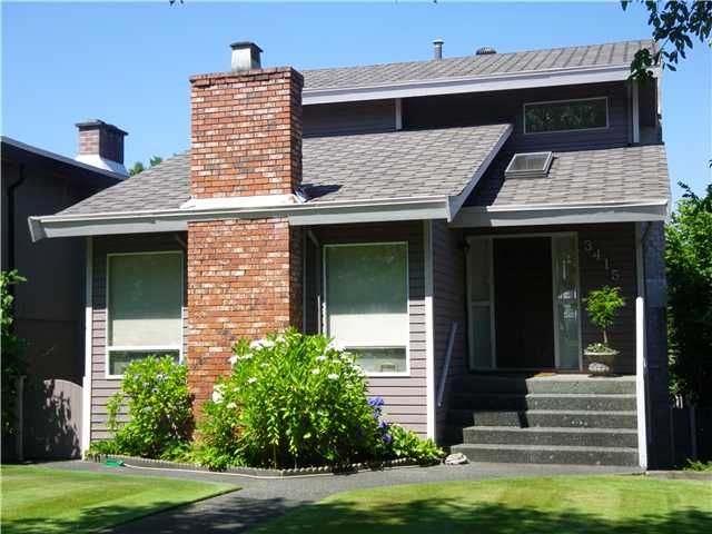 Main Photo: 3415 W 30 Avenue in Vancouver: Dunbar House for sale (Vancouver West)  : MLS®# V967980