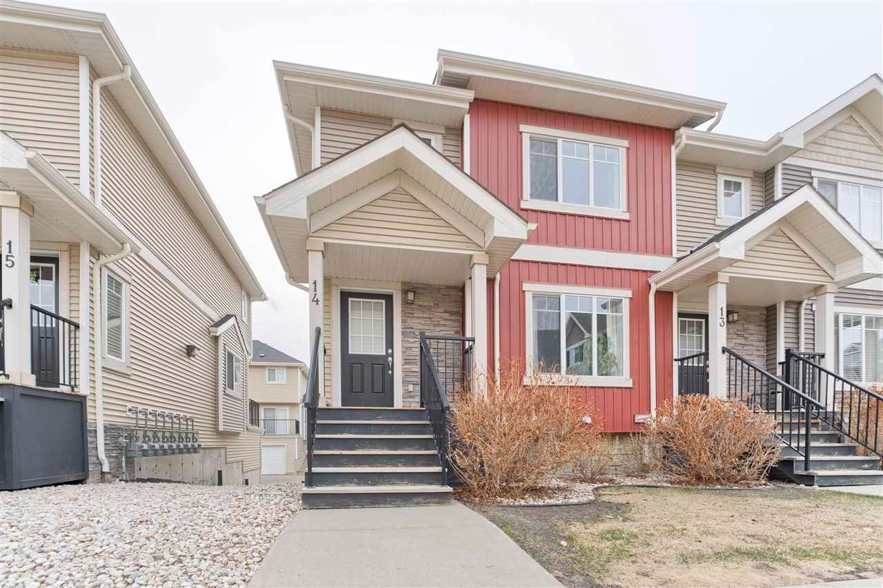 Main Photo: 14 7289 South Terwillegar Drive in Edmonton: Zone 14 Townhouse for sale : MLS®# E4241394