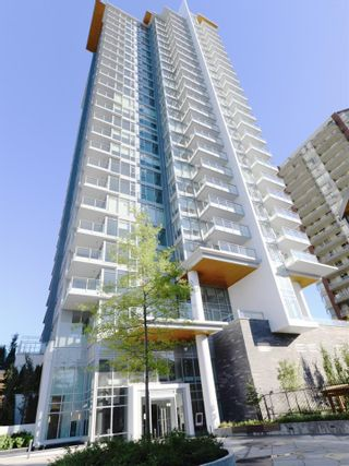 "Photo 1: 1408 520 COMO LAKE Avenue in Coquitlam: Coquitlam West Condo for sale in ""The Crown"" : MLS®# R2381526"