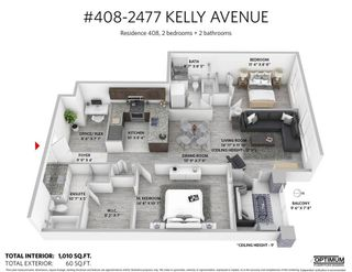 Photo 12: 408 2477 KELLY AVENUE in Port Coquitlam: Central Pt Coquitlam Home for sale ()  : MLS®# R2311710