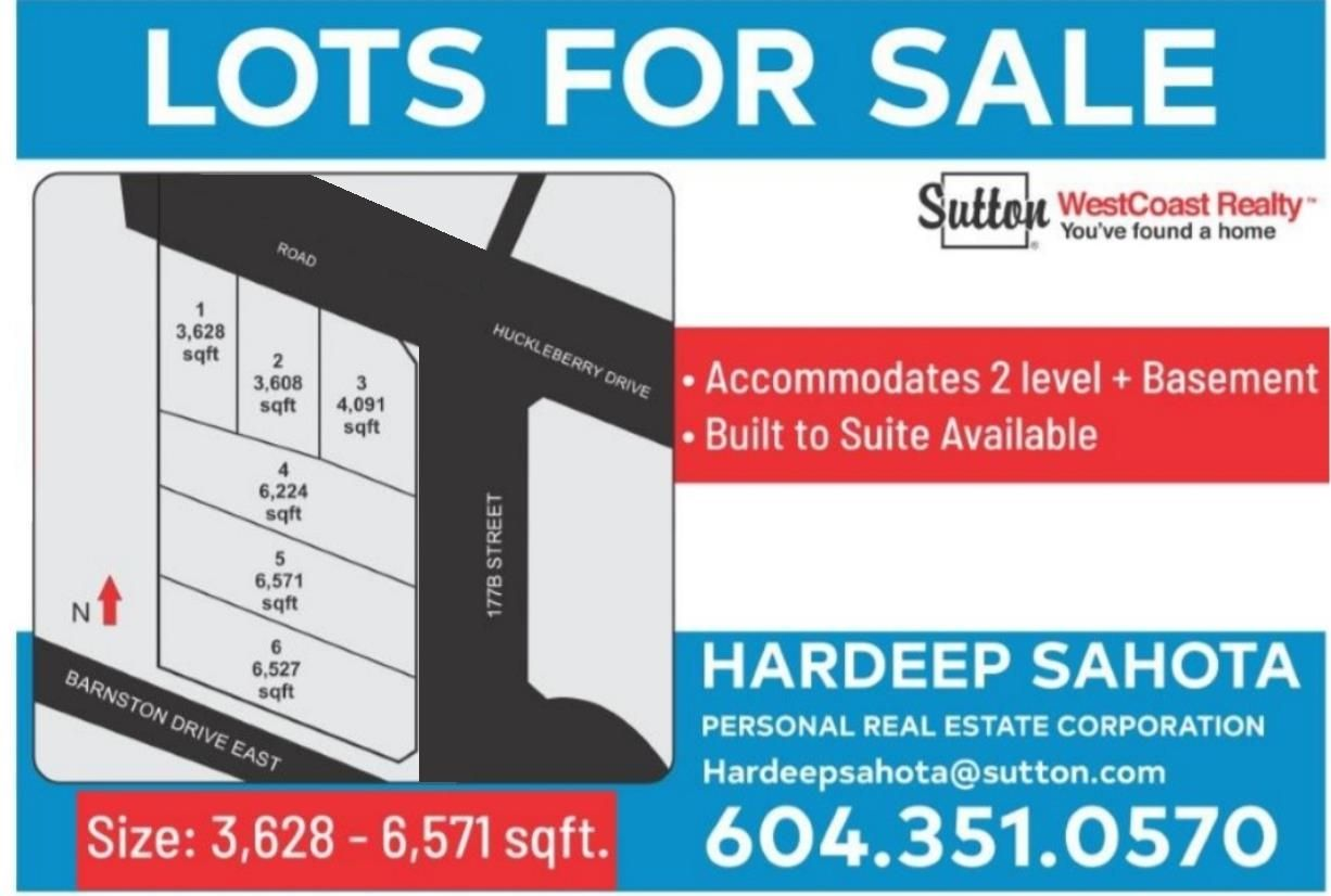 Main Photo: LT.6 17781 E BARNSTON Drive in Surrey: Fraser Heights Land for sale (North Surrey)  : MLS®# R2623972