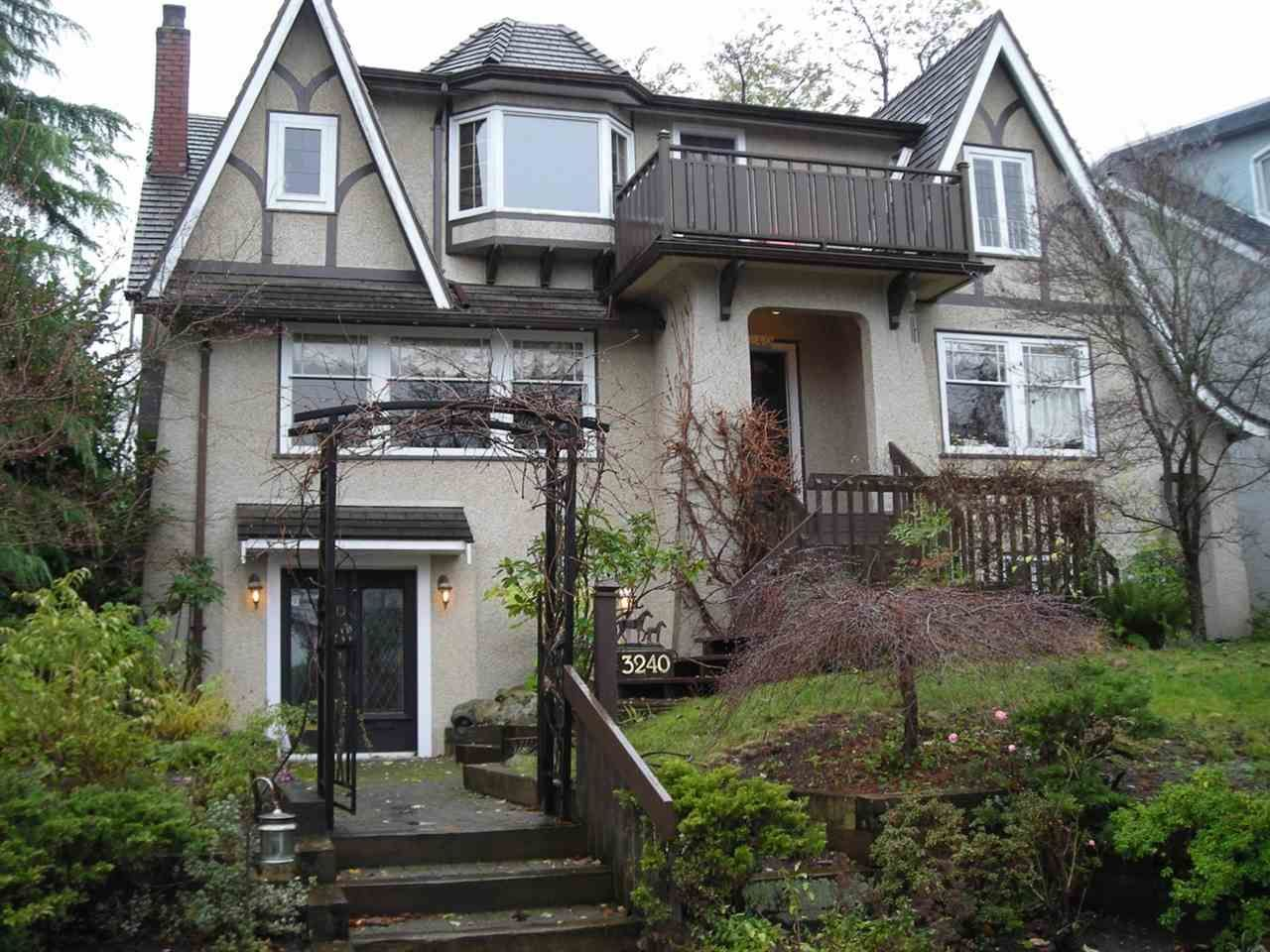 """Main Photo: 3240 W 21ST Avenue in Vancouver: Dunbar House for sale in """"Dunbar"""" (Vancouver West)  : MLS®# R2000254"""