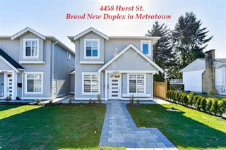Photo 1: 4458 HURST Street in Burnaby: Metrotown 1/2 Duplex for sale (Burnaby South)  : MLS®# R2417165