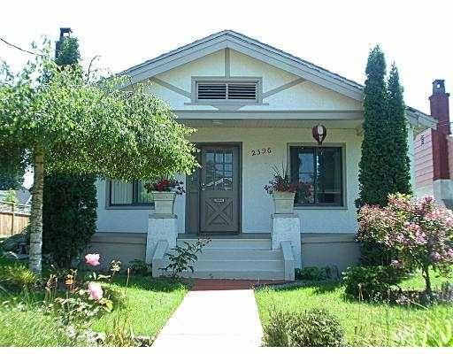 Main Photo: 2396 E 34TH AV in Vancouver: Collingwood Vancouver East House for sale (Vancouver East)  : MLS®# V539851