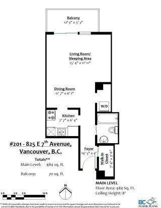 """Photo 6: 201 825 E 7TH Avenue in Vancouver: Mount Pleasant VE Condo for sale in """"MOUNT PLEASANT"""" (Vancouver East)  : MLS®# R2610052"""