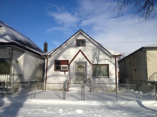 Main Photo: 607 Boyd Avenue in WINNIPEG: North End Residential for sale (North West Winnipeg)  : MLS®# 1502169
