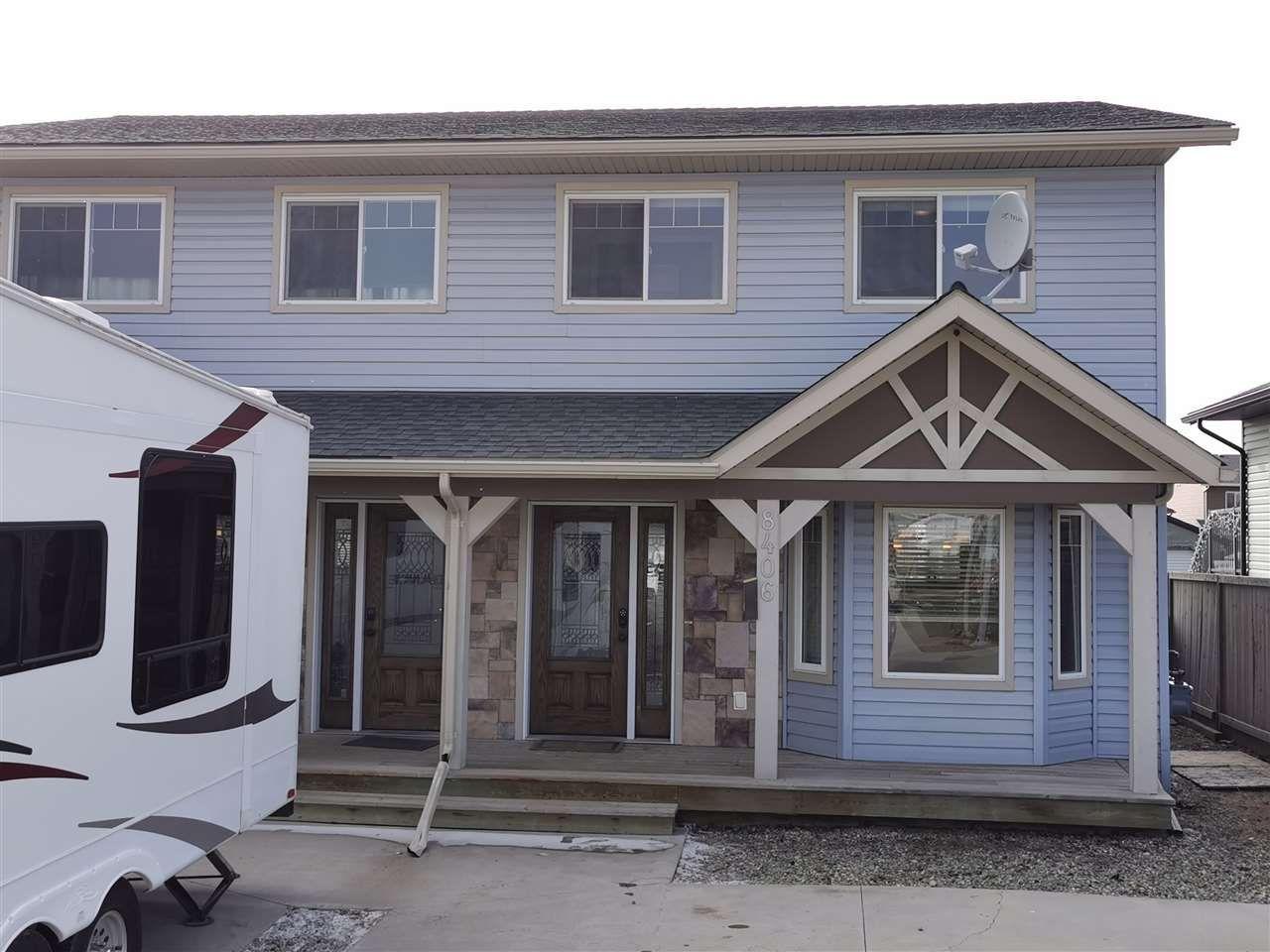 Main Photo: 8406 87 Street in Fort St. John: Fort St. John - City SE 1/2 Duplex for sale (Fort St. John (Zone 60))  : MLS®# R2564392