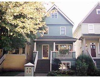 Photo 1: 1882 W 3RD AV in Vancouver: Kitsilano 1/2 Duplex for sale (Vancouver West)  : MLS®# V565586