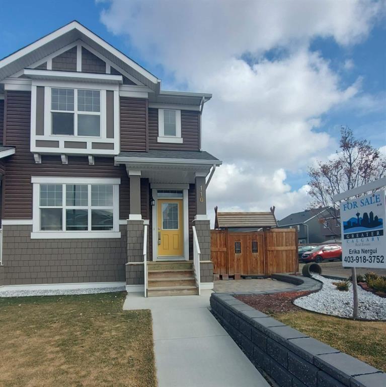 Main Photo: 110 Auburn Meadows Avenue SE in Calgary: Auburn Bay Semi Detached for sale : MLS®# A1095114