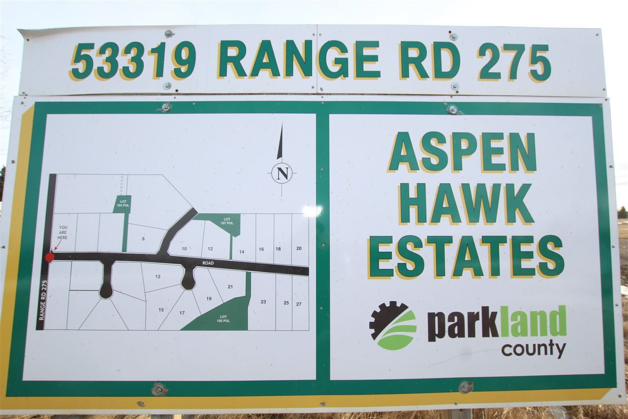 Main Photo: 8 53319 RGE RD 275: Rural Parkland County Rural Land/Vacant Lot for sale : MLS®# E4233742