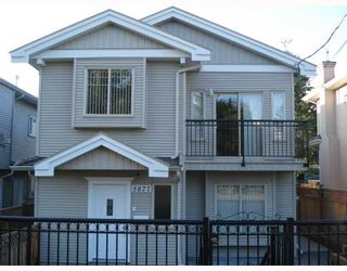 Photo 1: 5827 WOODSWORTH Street in Burnaby: Central BN 1/2 Duplex for sale (Burnaby North)  : MLS®# V773374