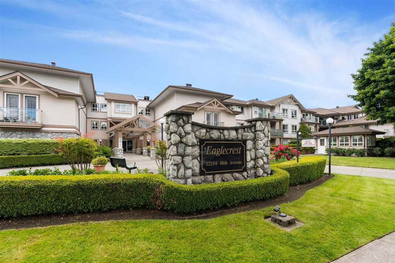 """Main Photo: 209 22150 48 Avenue in Langley: Murrayville Condo for sale in """"Eaglecrest"""" : MLS®# R2588897"""