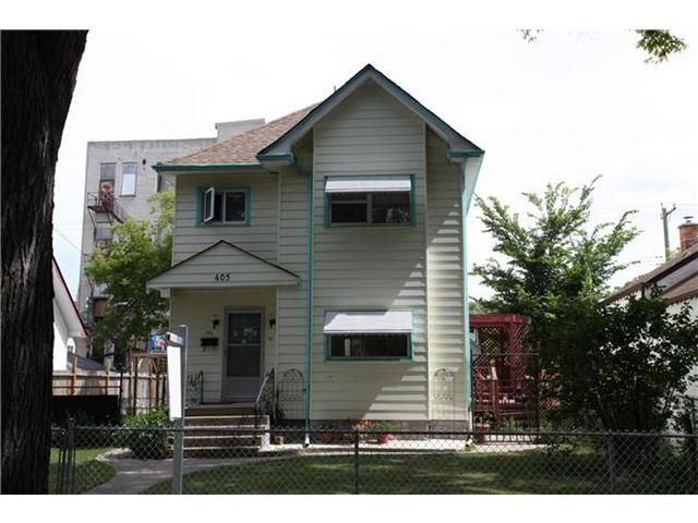 Main Photo: 605 Alverstone Street in WINNIPEG: West End / Wolseley Residential for sale (West Winnipeg)  : MLS®# 1215969