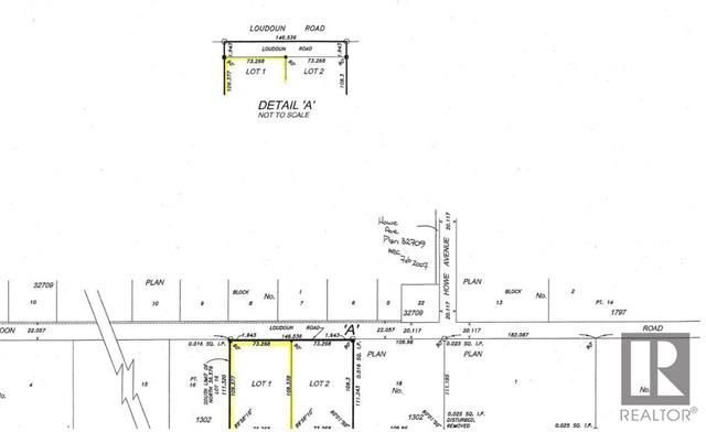 Subject property is highlighted Lot 1