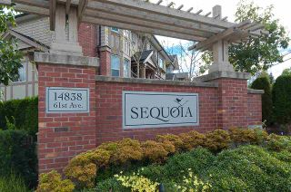 """Photo 1: 82 14838 61 Avenue in Surrey: Sullivan Station Townhouse for sale in """"SEQUOIA"""" : MLS®# R2107237"""