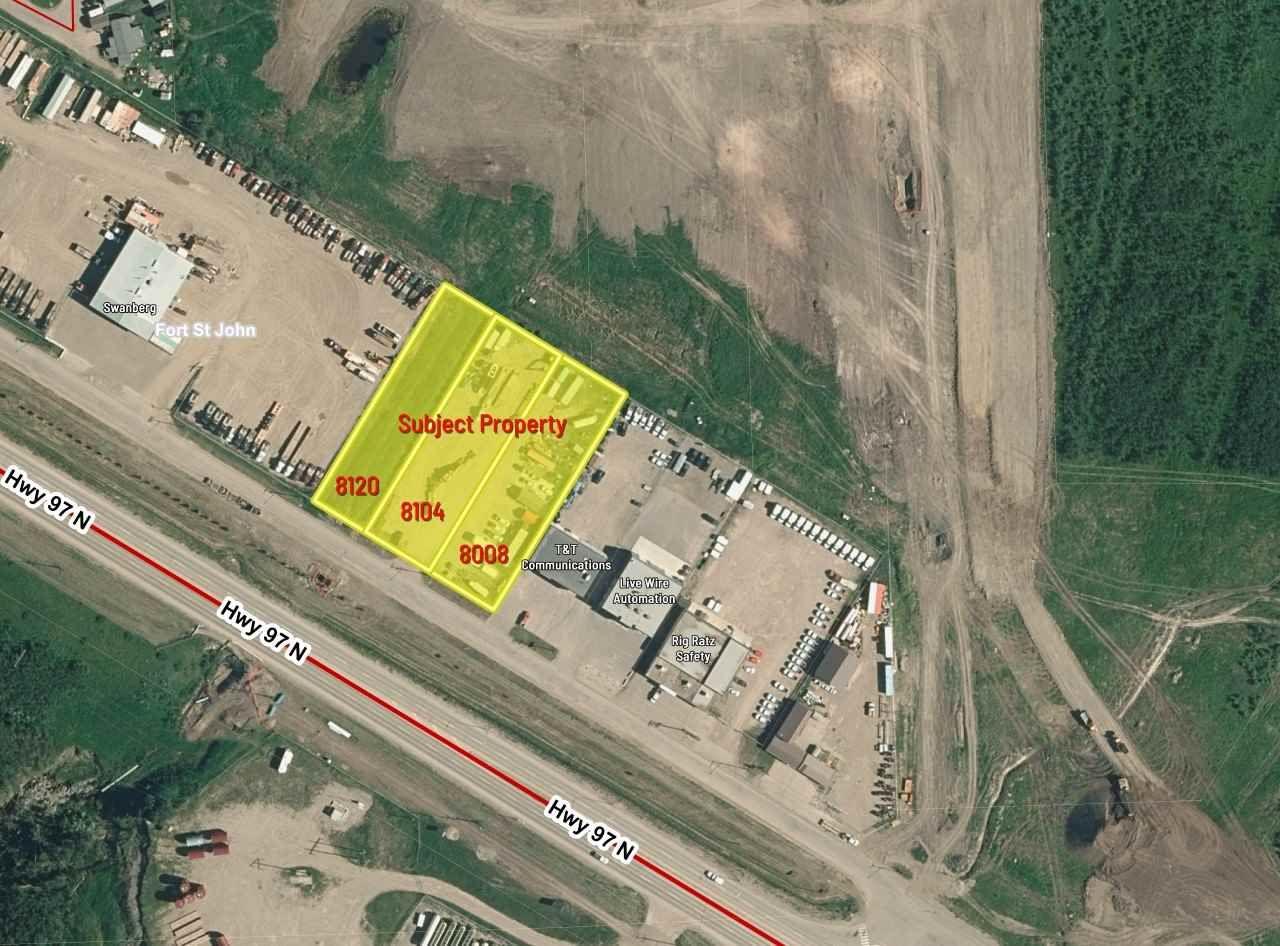 Main Photo: 8104 ALASKA Road in Fort St. John: Fort St. John - City SE Land Commercial for sale (Fort St. John (Zone 60))  : MLS®# C8037469