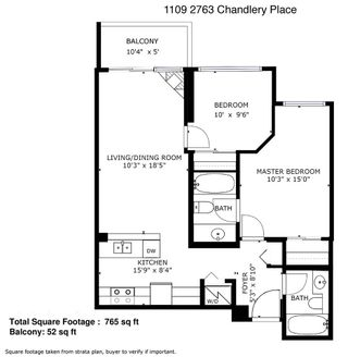 """Photo 20: 1109 2763 CHANDLERY Place in Vancouver: South Marine Condo for sale in """"RIVER DANCE"""" (Vancouver East)  : MLS®# R2427042"""