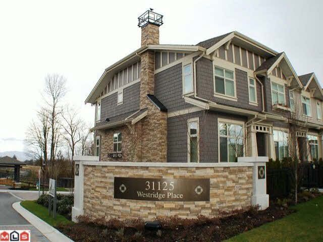 """Main Photo: 1 31125 WESTRIDGE Place in Abbotsford: Abbotsford West Townhouse for sale in """"Kinfield"""" : MLS®# F1422288"""